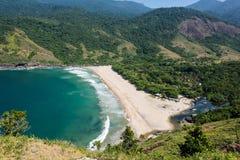 De mooie mening van het tropische Eiland van Ilhabela, Rio doet janerio, Sao Stock Foto's