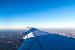 De mooie Mening van het Vliegtuigvenster Royalty-vrije Stock Foto