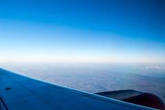 De mooie Mening van het Vliegtuigvenster Royalty-vrije Stock Foto's