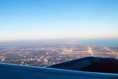 De mooie Mening van het Vliegtuigvenster Royalty-vrije Stock Afbeelding
