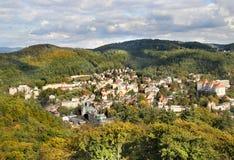 Karlovy vari?ërt, Tsjechische Republiek Royalty-vrije Stock Foto's