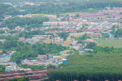 De mooie mening van khao-Khad bekijkt Toren, kunnen de toeristen van Th genieten Stock Afbeelding