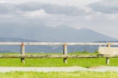 De mooie mening van de landschapsberg van Utsukushigahara-park is  Stock Foto's