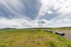 De mooie mening van de landschapsberg van Utsukushigahara-park is  Royalty-vrije Stock Foto's