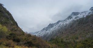 De mooie mening van vallei op Tibetan gebied Stock Fotografie