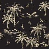 De mooie naadloze beige lijn van het eilandpatroon op donkere grijze backgr royalty-vrije illustratie