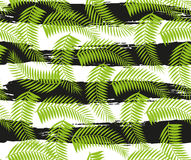 De mooie naadloze tropische achtergrond van het wildernis bloemenpatroon met palmbladen stock illustratie