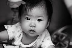 De mooie Ogen van de Baby Stock Afbeelding