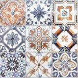 De mooie oude patronen van muurkeramische tegels handcraft van thailan stock illustratie
