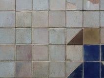 De mooie oude textuur van de tegelmuur stock foto's