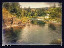 De mooie poorten van de santiamrivier n, Oregon Stock Foto