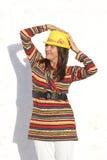 De aantrekkelijke rijpe kleurrijke vrouw van het portret Stock Foto's