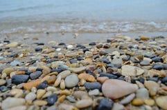De mooie rotsachtige kust van Korfu Royalty-vrije Stock Afbeelding
