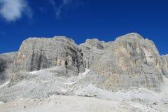 De mooie rotsachtige piek van dolomietalpen Stock Afbeelding