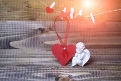 De mooie samenstelling van de valentijnskaartvakantie Stock Afbeeldingen