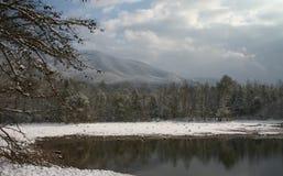 De mooie Scène van de Sneeuw stock afbeeldingen