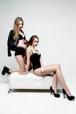 De mooie sexy vrouwen van het slepen Stock Foto