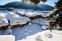 De mooie de sneeuwstad van China ` s stock afbeelding