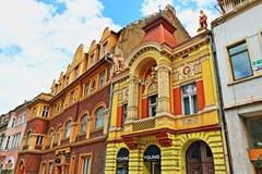 De mooie stad Transsylvanië Roemenië van gebouwenbrasov Royalty-vrije Stock Fotografie
