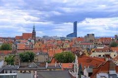 De mooie Stad van Wroclaw, Polen stock afbeelding