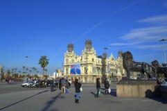 De mooie straten van Barcelona royalty-vrije stock fotografie