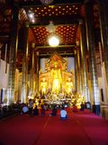 De mooie tempel van de de godsdienstvrijheid van de fotografielevensstijl van Thailand Royalty-vrije Stock Foto