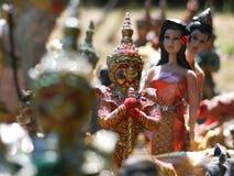De mooie traditionele Thaise poppen stock foto's
