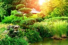De mooie Tuin van het Landschap Royalty-vrije Stock Afbeeldingen