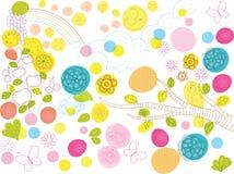 De mooie Vectorillustratie van het Aard Decoratieve Element Stock Fotografie