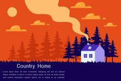 De mooie vectorillustratie van het Huis moderne vlakke ontwerp Royalty-vrije Stock Afbeelding