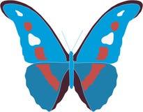 De mooie vliegende vlinder brengt vreugde Stock Foto