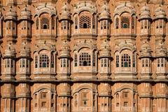 De mooie voorzijde van Hawa Mahal in Jaipur, India Royalty-vrije Stock Afbeelding