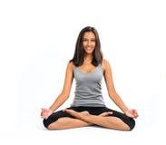 De mooie vrouw die Yoga doen stelt (ansana) Stock Fotografie