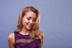 De mooie vrouw met beroeps maakt omhoog Royalty-vrije Stock Foto's