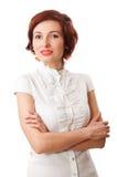 De mooie vrouw staart bij u Stock Fotografie