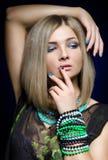 De mooie Vrouw van de Blonde Stock Foto