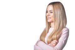 De mooie Vrouw van de Blonde Royalty-vrije Stock Afbeelding