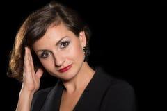 De mooie vrouw van het Headshotportret Stock Fotografie