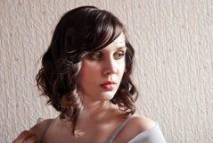 De mooie vrouw van het portret Royalty-vrije Stock Afbeeldingen