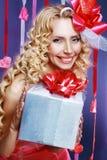 De mooie vrouw van Valentijnskaarten Royalty-vrije Stock Fotografie