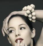 De mooie vrouw van Vinatge Royalty-vrije Stock Afbeelding