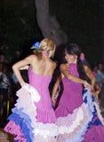 De mooie vrouwen van de mensen van Spanje groeperen zich. dansers Royalty-vrije Stock Afbeeldingen