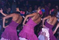 De mooie vrouwen van de mensen van Spanje groeperen zich. dansers Stock Afbeeldingen