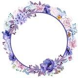 De mooie Waterverfmunt bloeit kader Kader van de munt het gouden bloem! royalty-vrije illustratie