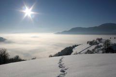 De mooie Winter Royalty-vrije Stock Afbeeldingen