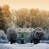 De mooie winter in Kuskovo stock afbeeldingen