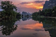 De mooie Yulong-rivier Royalty-vrije Stock Afbeelding