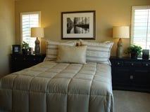De mooie Zaal van het Bed Stock Afbeeldingen