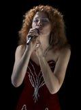 De mooie zanger Royalty-vrije Stock Foto's