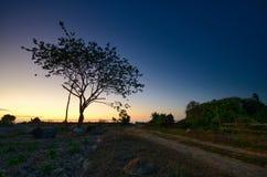 De mooie zonsondergang stock foto